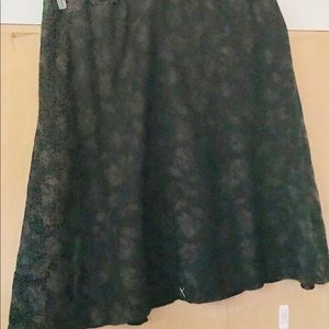 New J. jill Skirt Espresso Lined 28W Women's